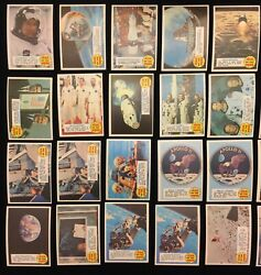 1970 Topps Man On The Moon Partial Starter Set Group Lot 45 Cards Ex To Nm