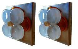 Pair Of Lamps Wall Appliques Poliarte Design Albano Poly Years