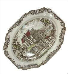 Heritage Hall Johnson Brother's Victorian Gothic Country Serving Platter 4411