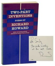 Richard Howard / Two-part Inventions Signed First Edition 1974 164904