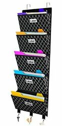 Over The Door File Organizer Wall Hanging File Folder Holder Mail Organizers