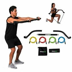 Gorilla Bow Portable Home Gym Resistance Bands And Bar System For Travel, Fitnes