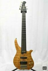 Washburn Cb-16sp 6-strings Bass Natural Spalted Top Eden Active Pickup