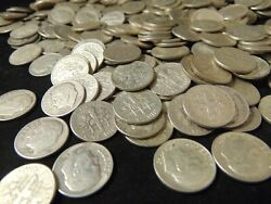 2 Pounds Silver Dimes Mixed Dates Good Shape Roosevelt 90 Silver All Pre-1964
