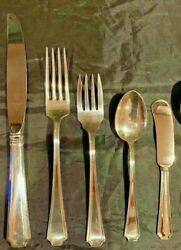 Fairfax By Gorham Sterling Flatware Set Of 8 By 5 With Butters
