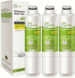Refrigerator Water Filter Fits Samsung Rs267tdrs Rs267tdpn Rs261mdrs 3pk