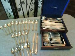 1847 Rogers Brothers Heraldic Silverplate Pattern 1916 56 Pieces And Box