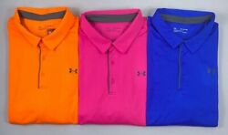 Menand039s Big And Tall Under Armour Heat Gear Loose Textured Striped Polo Shirt