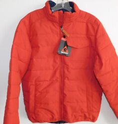New Mens Size Xl Orange Gerry Polyfill Insulated Quilted Full Zip Jacket