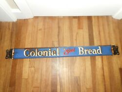 Vintage Colonial Bread Advertising General Store Bread Push Sign