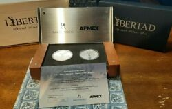 2016 Bank Of Mexico And Apmex Exclusive 2-coin 1oz Libertad