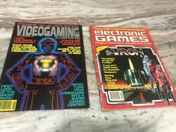 Tron Electronic Games Magazine Videogaming Illustrated Premiere Issue + Joystick