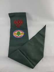 Vintage 1950and039s Boys Scout Sash Camp Irondale Mo Camporee Patch Merit Badges