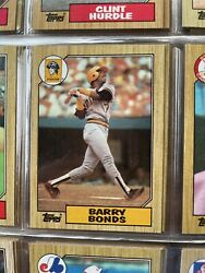 1987 Barry Bonds Topps Baseball Sets With A Total Of 3400 In Just 20 Cards.