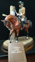 Royal Doulton Soldiers Of The Revolution Sergeant 1st Continental Light Dragoons