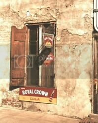 Cafe | Soda Signs | Royal Crown | Crush |8x10 Reprint Of Old Photo