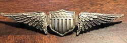 Post Wwi Sterling Silver Us Military Aviator Wings Badge