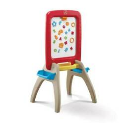 Step2 All Around Easel Dry Erase Magnetic Chalkboard Learning Easel Used
