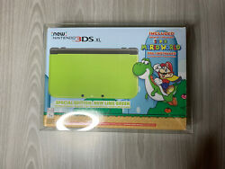 New Nintendo 3ds Xl Super Mario World New Lime Green Special Edition Protector