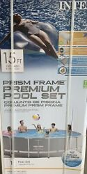 Intex 15and039x48 Prism Frame Premium Pool W/ladderpump And Cover / Local Pickup