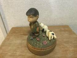 Reuge Anri Music Box Snoopy Release Me Swiss Musical Movement Hand Carved