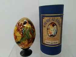 Reuge Musical Egg Musical Box Fairy Tales Vintage Beautiful Hand Printed