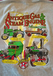 Antique Gas And Steam Engine Museum Vista Tractor Hollywood Stars Mens L T Shirt⭐