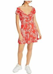 Free People Women A Thing Called Love Ob921654 Mini Dress Red Multicolor Xs