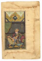 Mughal Miniature Painting Of Mughal Emperor And Empress In Love Scene Artwork