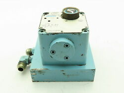 Vickers Cpg-06-10a-l-12 Hydraulic Flow Control Panel Valve Single Feed 10 Gpm