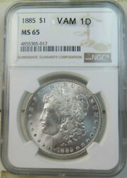 1885 Morgan Dollar Ngc Ms65 Vam 1d Banded Wing Tip Wowlist Br