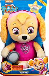 Paw Patrol, Snuggle Up Skye Plush With Flashlight And Sounds, For Kids Aged 3 Up