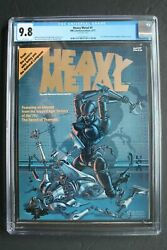 1977 Heavy Metal Magazine Issue 1 Cgc 9.8 - Rare Premiere First Issue 1 - Nm