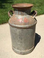 Vintage 23 Valley Creamery Co Va Made By Buhl Detroit Milk Can Dairy Farm Metal