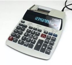 Canon P170-dh 12 Digit 10 Key Printing Adding Machine With Clock And Calender
