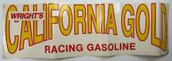 Vintage Wright's California Gold Racing Gasoline Hot Rod Decal Sticker 1960-80s