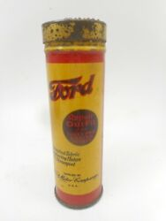 Vintage Rare Ford Tire Tube Repair Outfit Kit Advertising Tin Oil Can Container