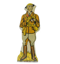 1940's Marx General Tin Target Soldiers Of Fortune Litho Play Set Toy Pc