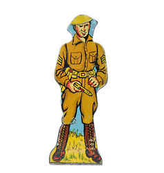 1940's Marx Infantry Sergeant Tin Target Soldiers Of Fortune Play Set Toy