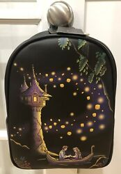 New With Tags Loungefly Disney Tangled Rapunzel Light Up Mini Backpack