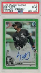 Luis Robert Signed 2020 Bowman Chrome Green Refractor Parallel Rc Cra-lr Card