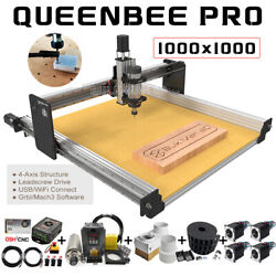 1010 Queenbee Pro Cnc Router Machine Full Kit 4 Axis Wood Router Engraver Mill