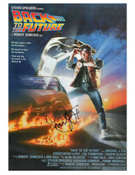 A3 Back To The Future Poster Signed By Michael J Fox 100 Authentic With Coa