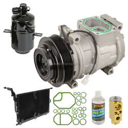 For Mercedes Sl500 1994 1995 1996 A/c Kit W/ Ac Compressor Condenser And Drier