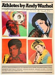 Andy Warhol Signed Athletes By Andy Warhol Poster Autograph Art Picasso Monet