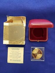 1985 [5745] Israel And There Was Light Yaacov Agam 1oz. Gold Medal L@@k Rare