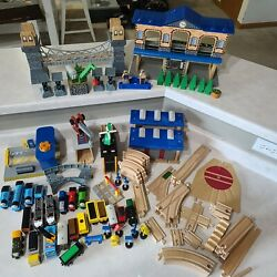 Huge Amount Of Thomas The Train Engine Wooden Trains, Tracks And Buildings Lot