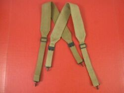 Wwi Aef Us Army M1907 Mills Canvas Suspenders - Dated 1918 - Unissued - Rare