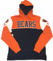 Men's Mitchell And Ness Orange/navy Nfl Chicago Bears Home Advantage Hoodie