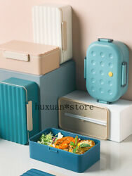 New Plastic Compartment Lunch Box Sealed Lunch Box Large Capacity Microwave Oven
